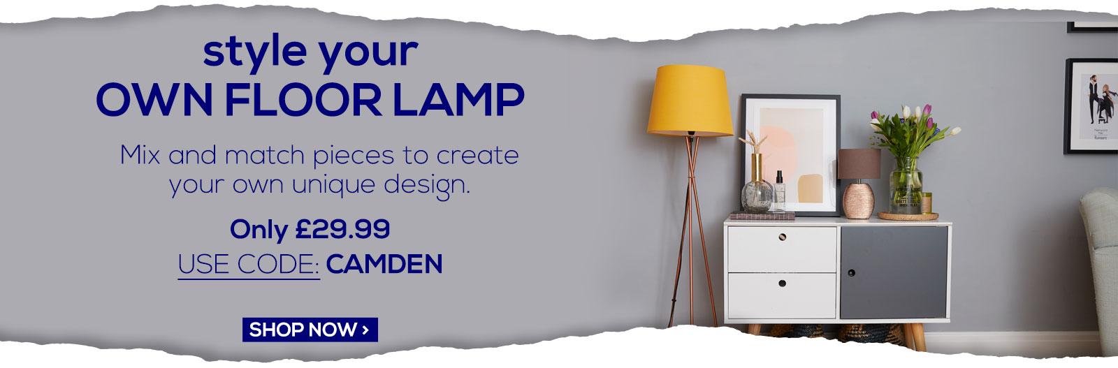 Camden Style Your Own Floor Lamp