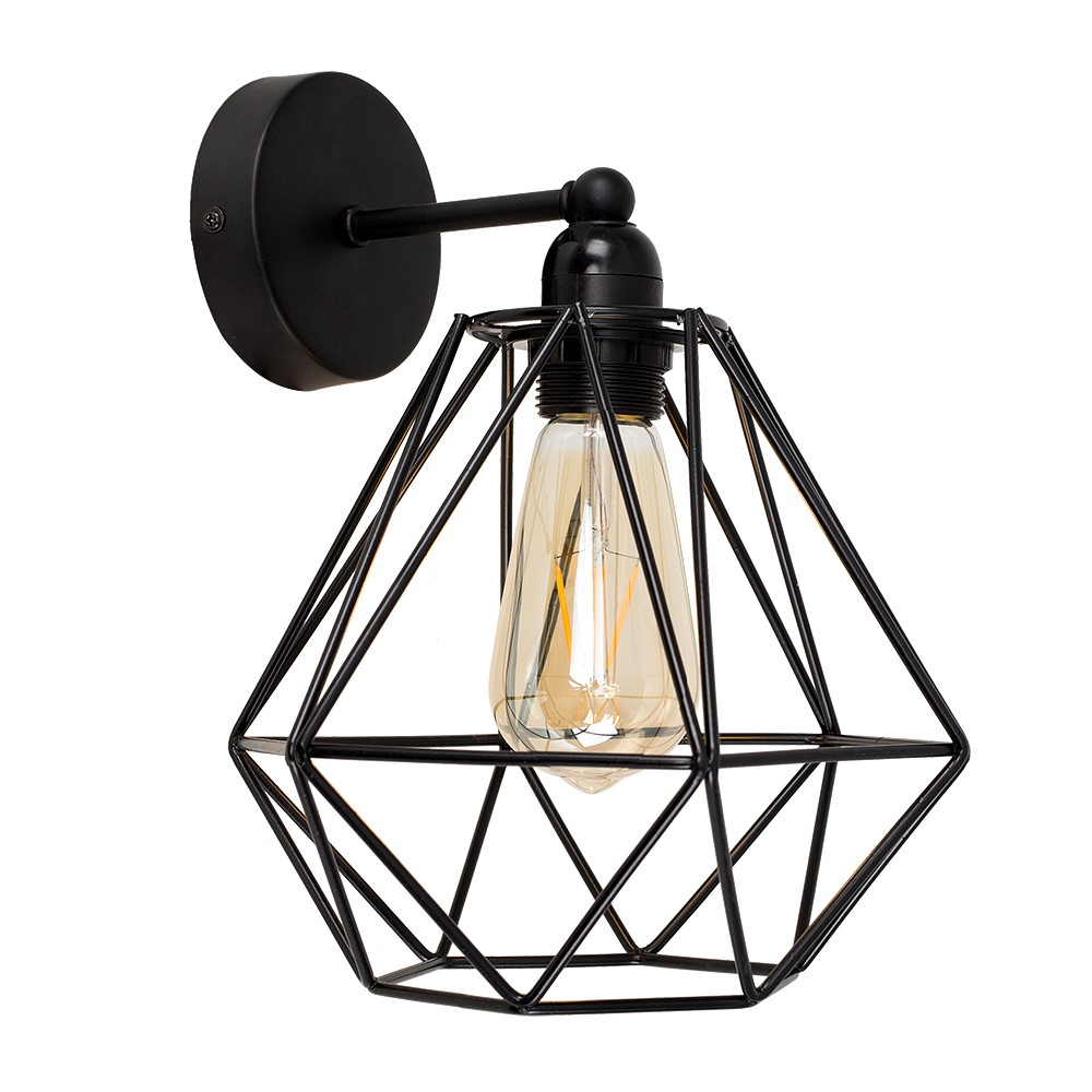 Cambourne Black Steampunk Wall Light Value Lights