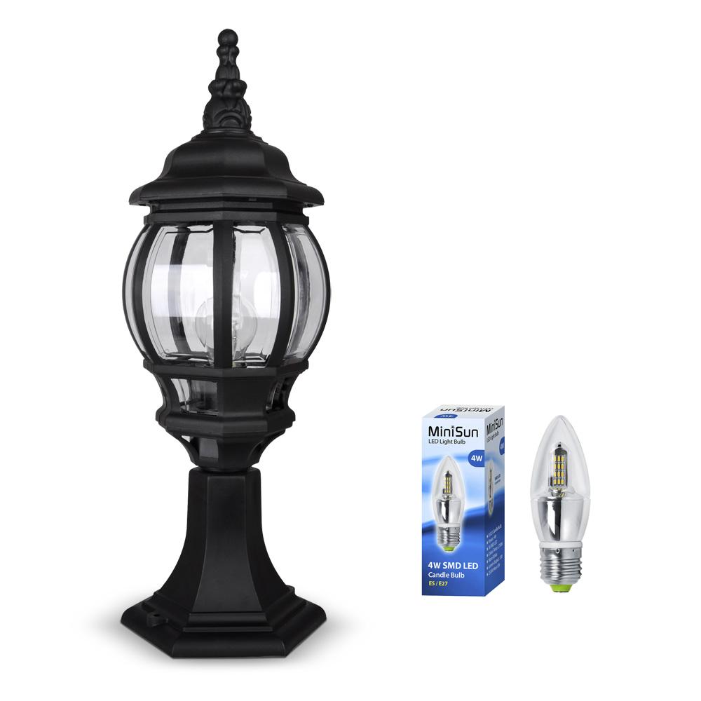 black led outdoor garden lantern light lamp post lights new ebay