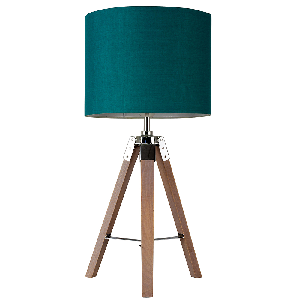 modern large wood nautical style tripod table lamp green light shade lighting. Black Bedroom Furniture Sets. Home Design Ideas