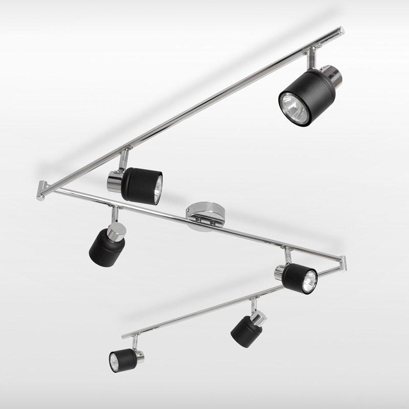 modern silver chrome black 6 way kitchen ceiling light fitting spotlight home ebay. Black Bedroom Furniture Sets. Home Design Ideas
