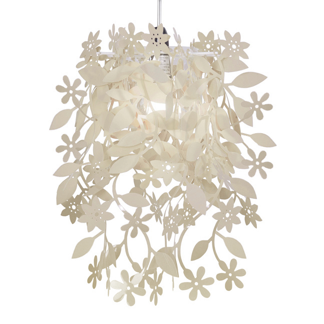 Cream vintage shabby chic style ceiling pendant light shade floral ceiling pendant light shade aloadofball Gallery