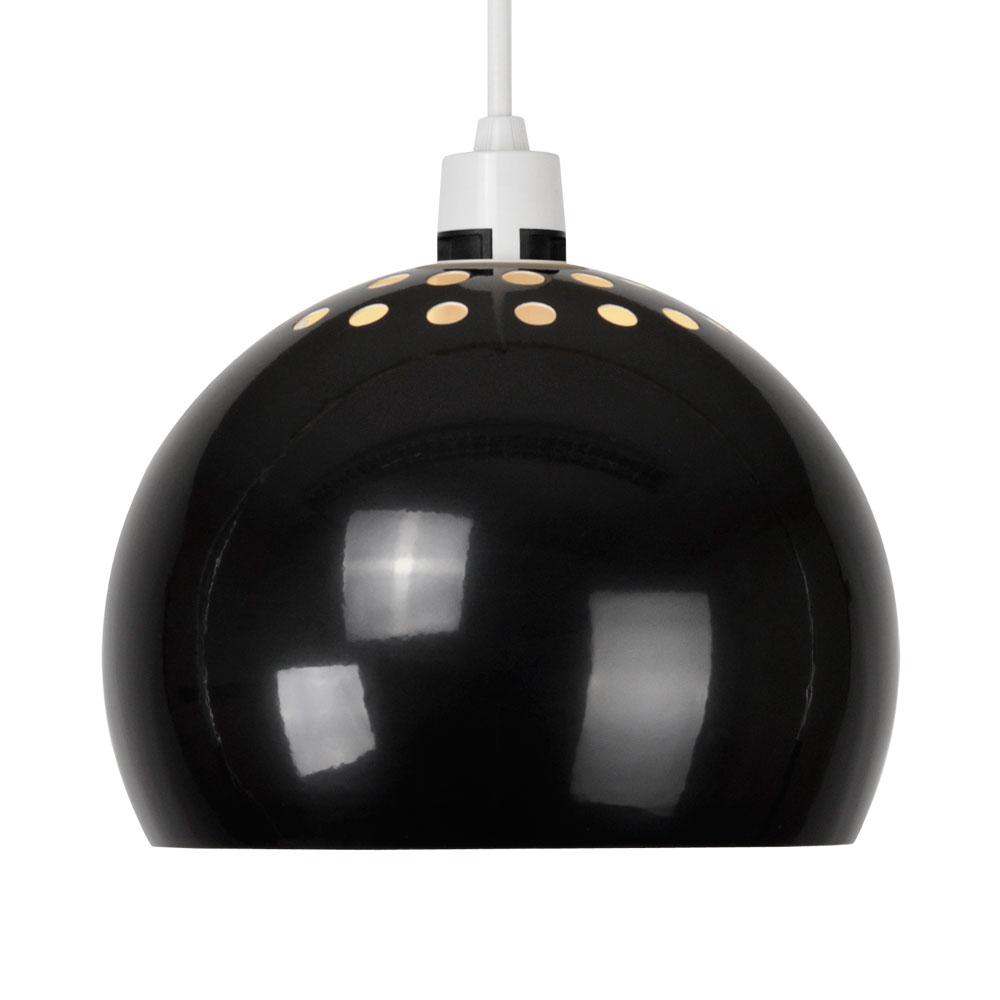 Ceiling Dome Light: Modern Gloss Black Retro Dome Ceiling Pendant Light Lamp