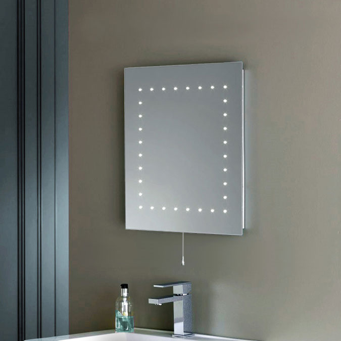 modern ultra slim illuminated led bathroom vanity bevelled wall mirror light new ebay. Black Bedroom Furniture Sets. Home Design Ideas