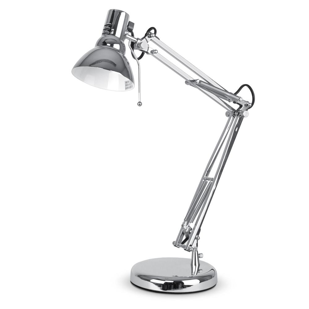 Ikea Tertial Adjustable Work Light Clamp On Desk Garage: Modern Designer Style Chrome Reading Craft Bedside Table