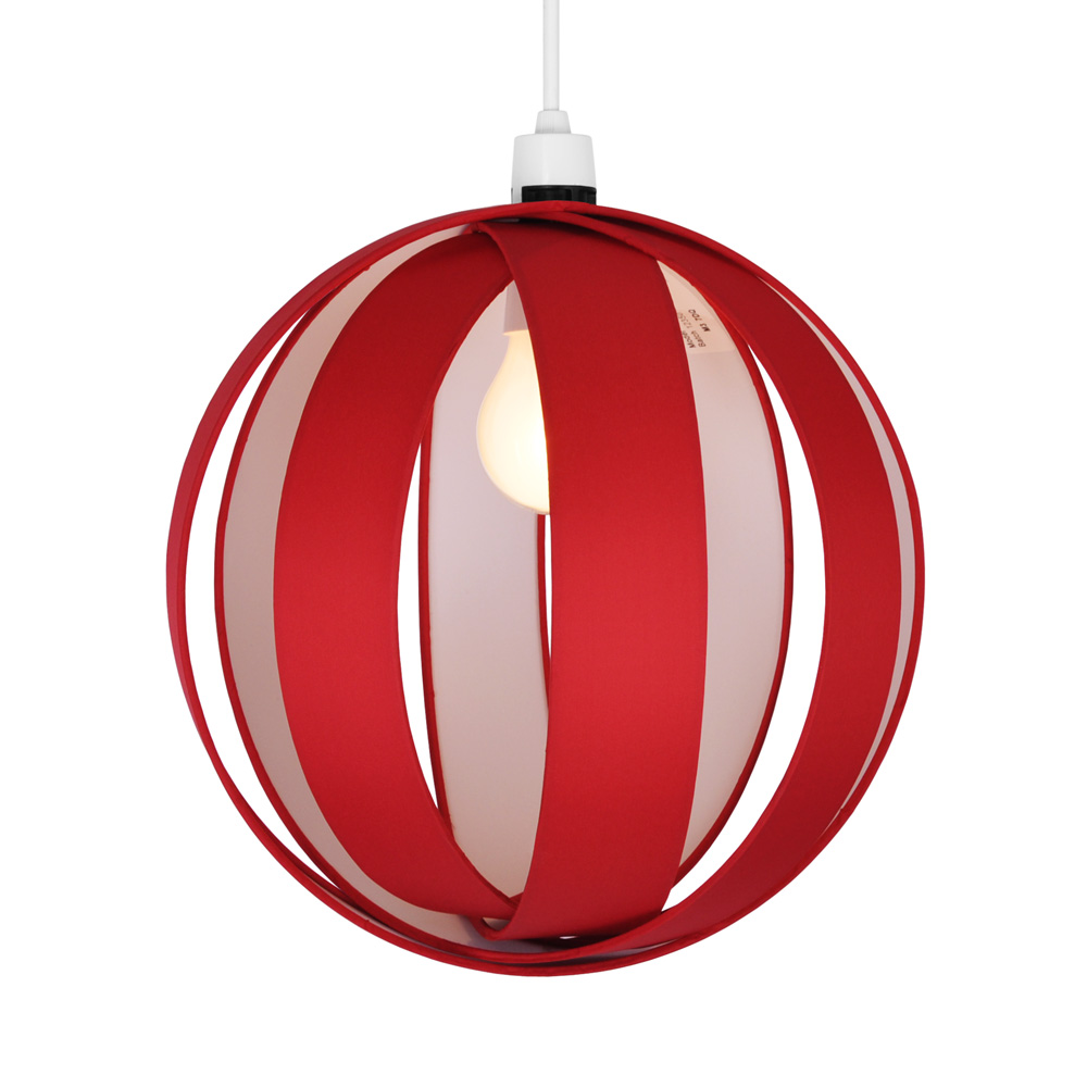 Modern Red Fabric Cocoon Ceiling Light Fitting Pendant ...