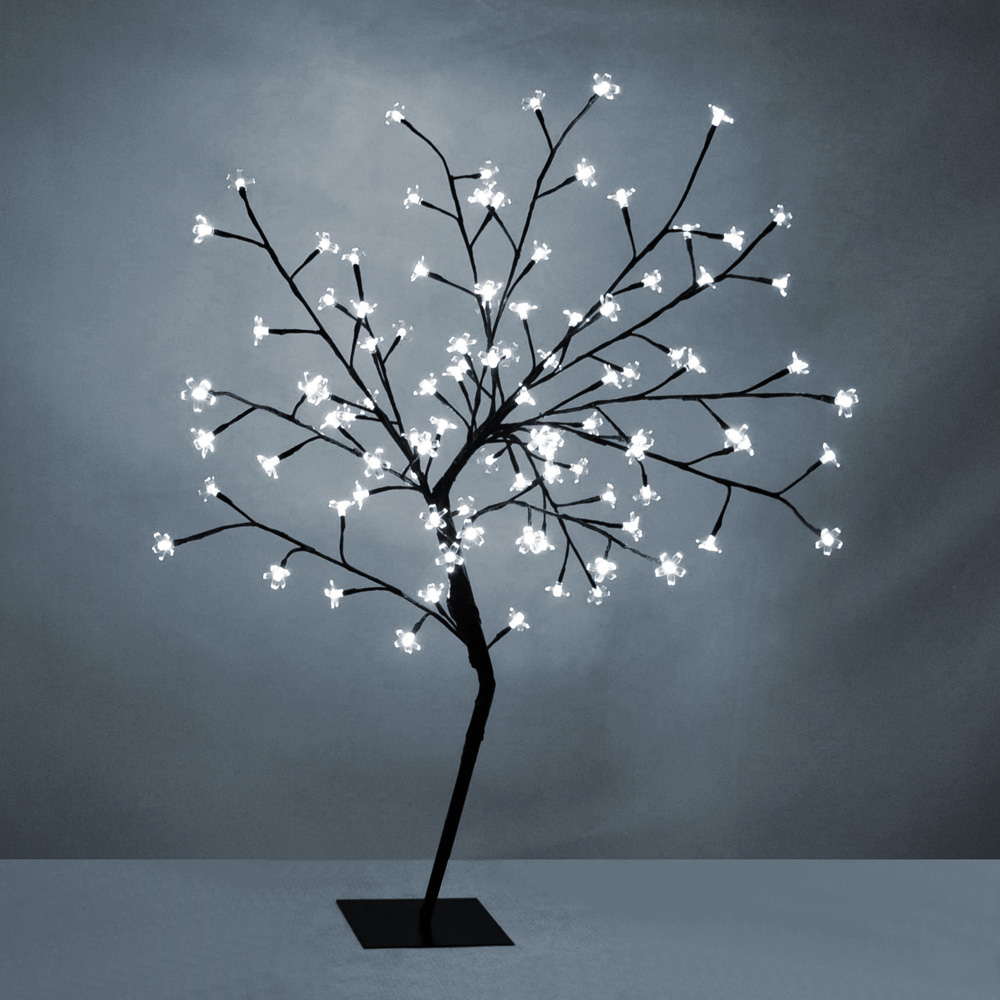 Modern white led 4ft cherry blossom willow tree twig floor for Tree floor lamp uk