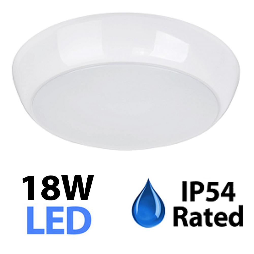 ip54 exterior 18w daylight smd led white ceiling wall bulkhead light fitting ebay