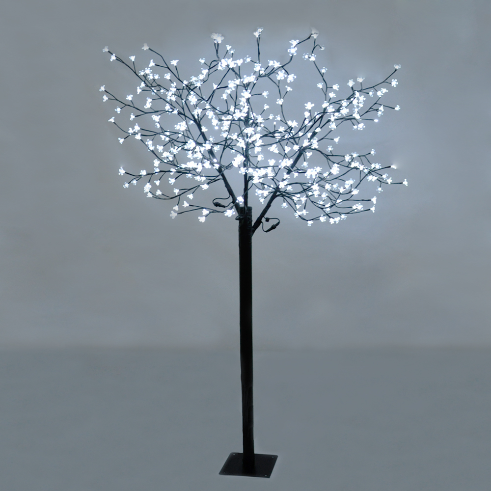 18m led cherry blossom bonsai sakura tree 384 white led for Tree floor lamp uk