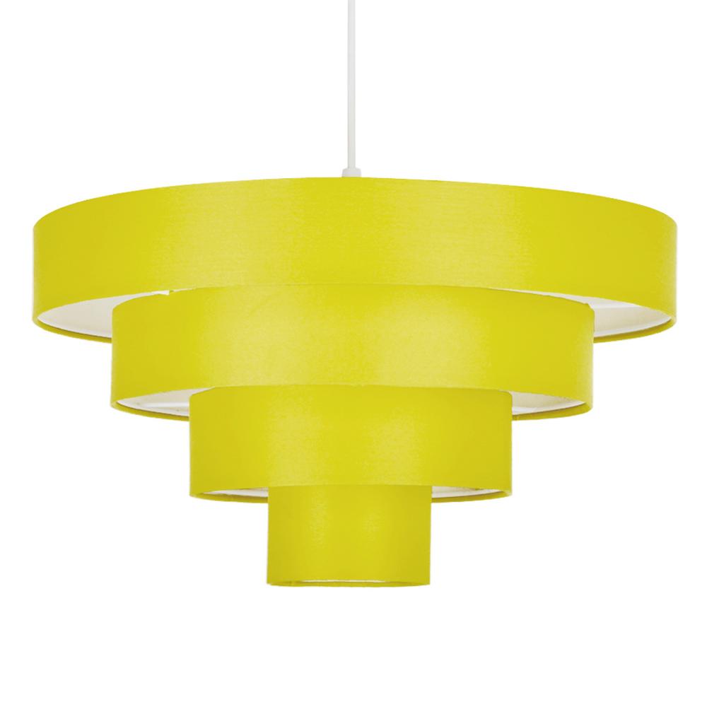 Modern Yellow 4 Tier Round Ceiling Pendant Light Lamp