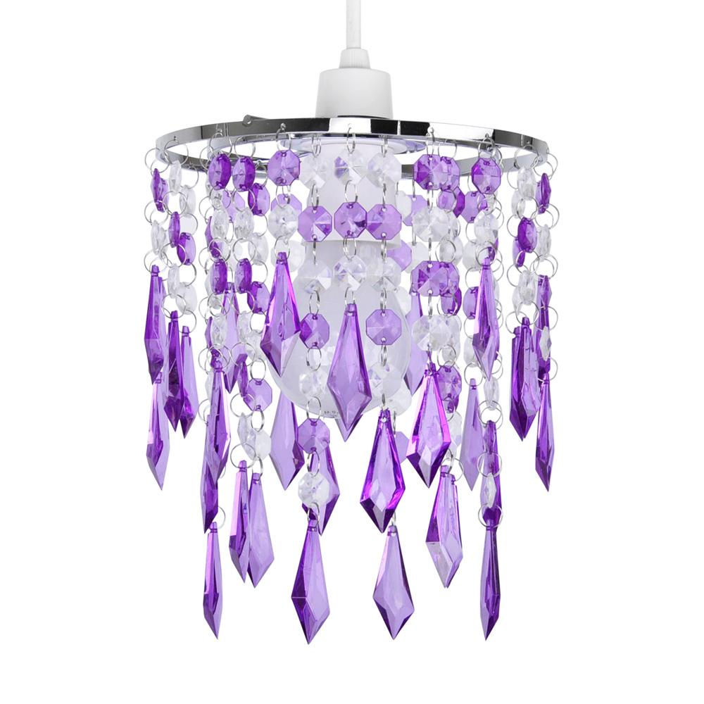 Modern Purple Clear Acrylic Crystal Ceiling Light Lamp