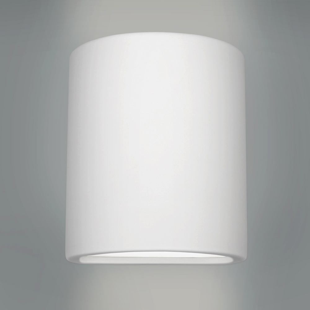 Modern Ceramic Wall Lights : Modern Curved White Ceramic Up & Down Indoor Wall Light Fitting Lamp Lights eBay
