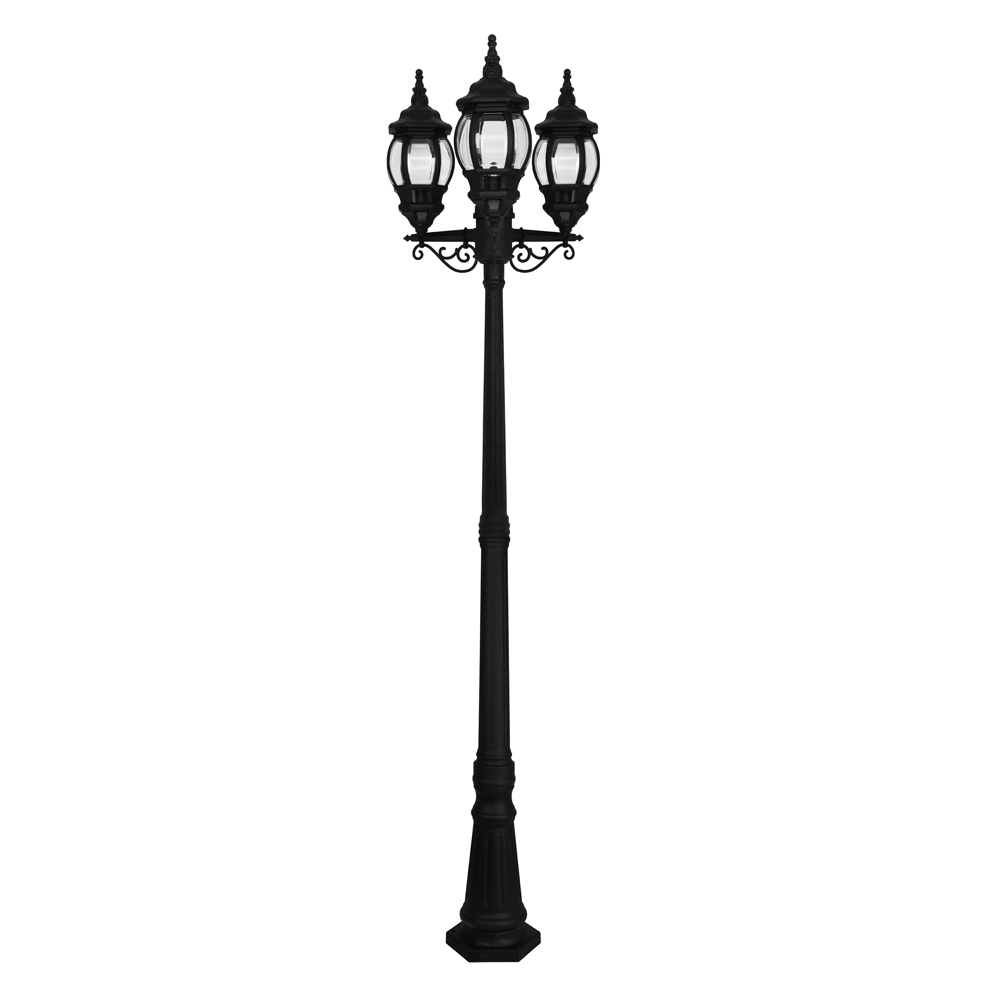 Outdoor Lamp Ebay: Vintage Style 3 Way Triple Head Outdoor Garden Light Lamp