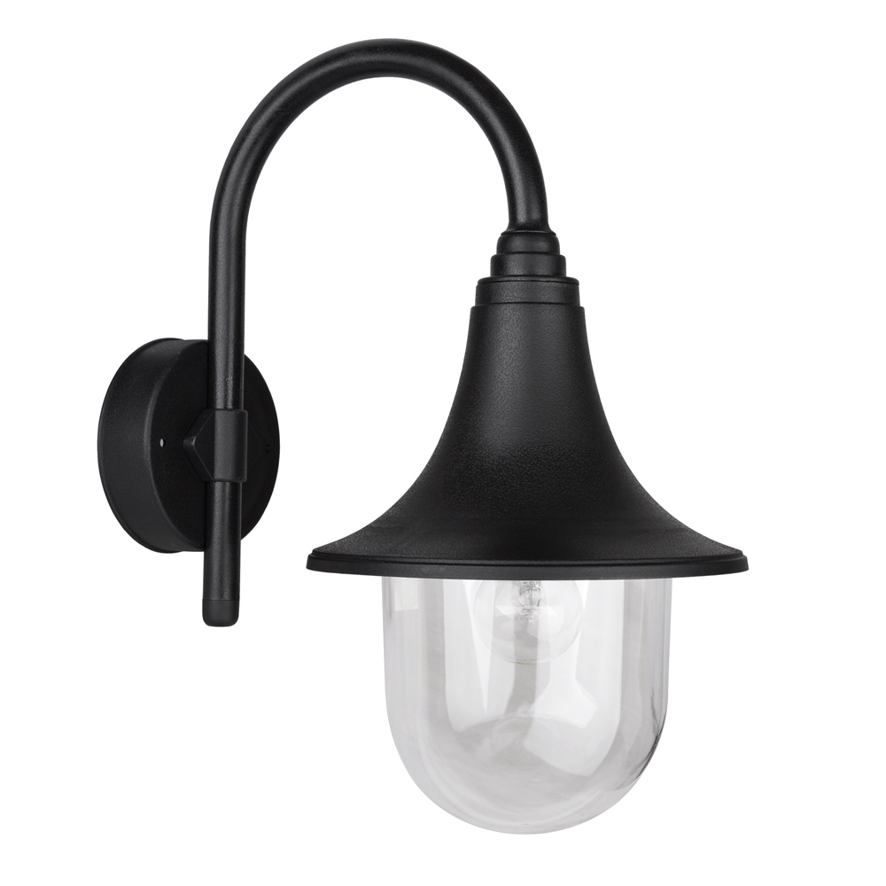 Traditional Black IP44 Outdoor Outside Fishermans Wall Lamp Lantern Light Lights eBay