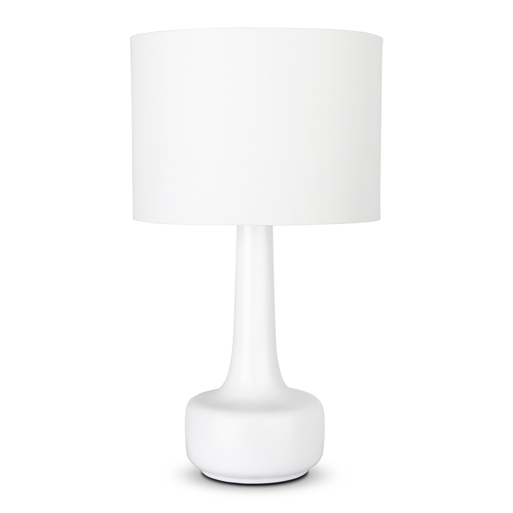 Tall modern white ceramic lounge bedside table lamp lights lamps item specifics geotapseo Gallery