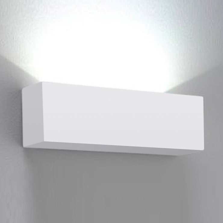 Modern Wall Lights For Conservatory : Modern Square White Ceramic Indoor Uplighter Wall Light Fittings Lights NEW eBay