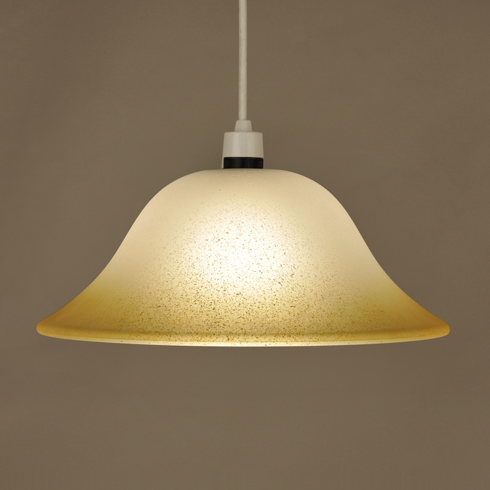 Frosted Yellow Glass Ceiling Pendant Light Lamp Shade