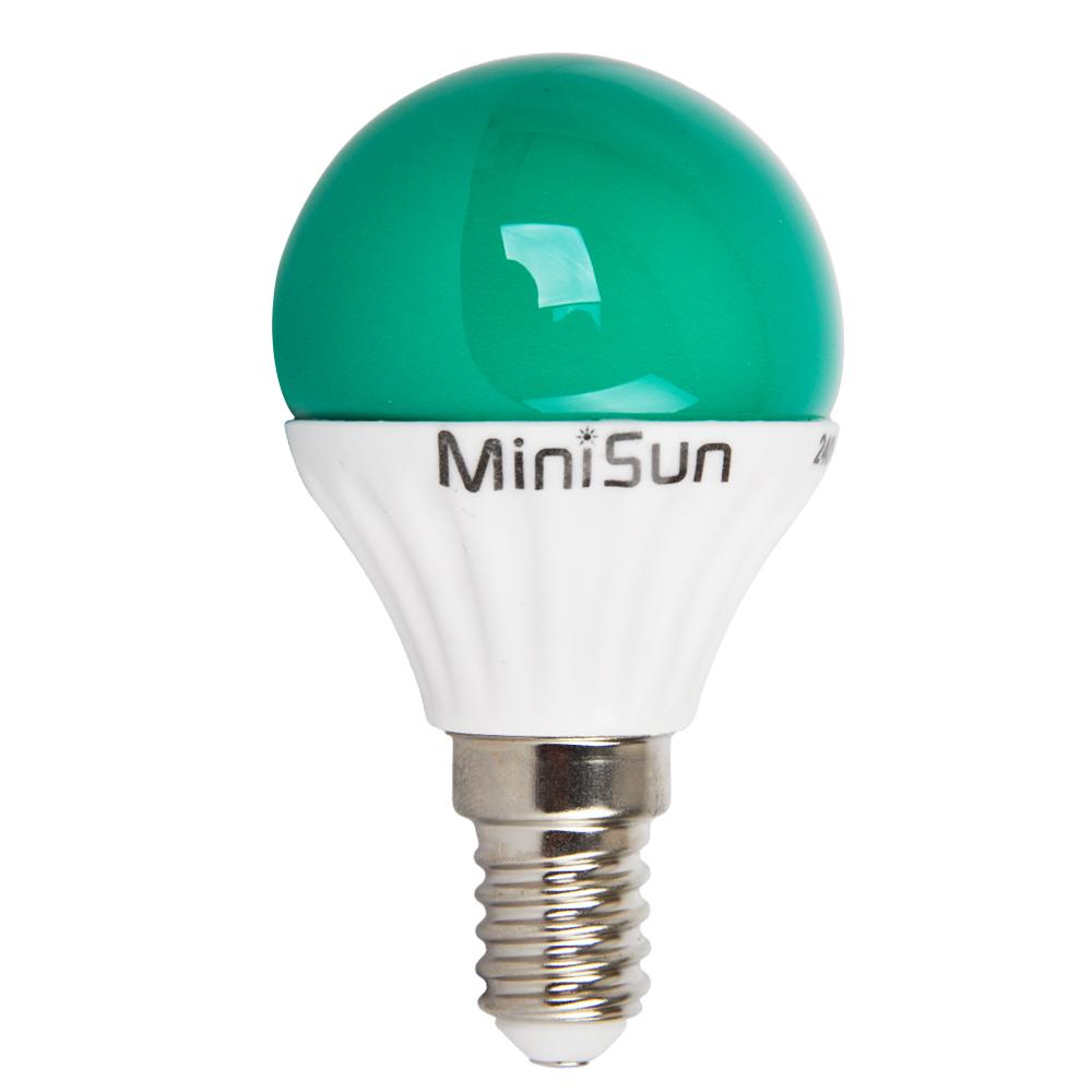 Minisun 4 Watt Green Coloured Led Golfball Lightbulb Ses E14 Light Bulb Lighting Ebay