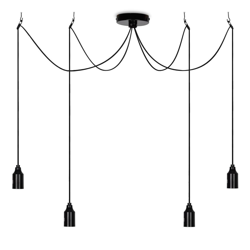 Modern Black 4 Way Suspended Ceiling Pendant Light