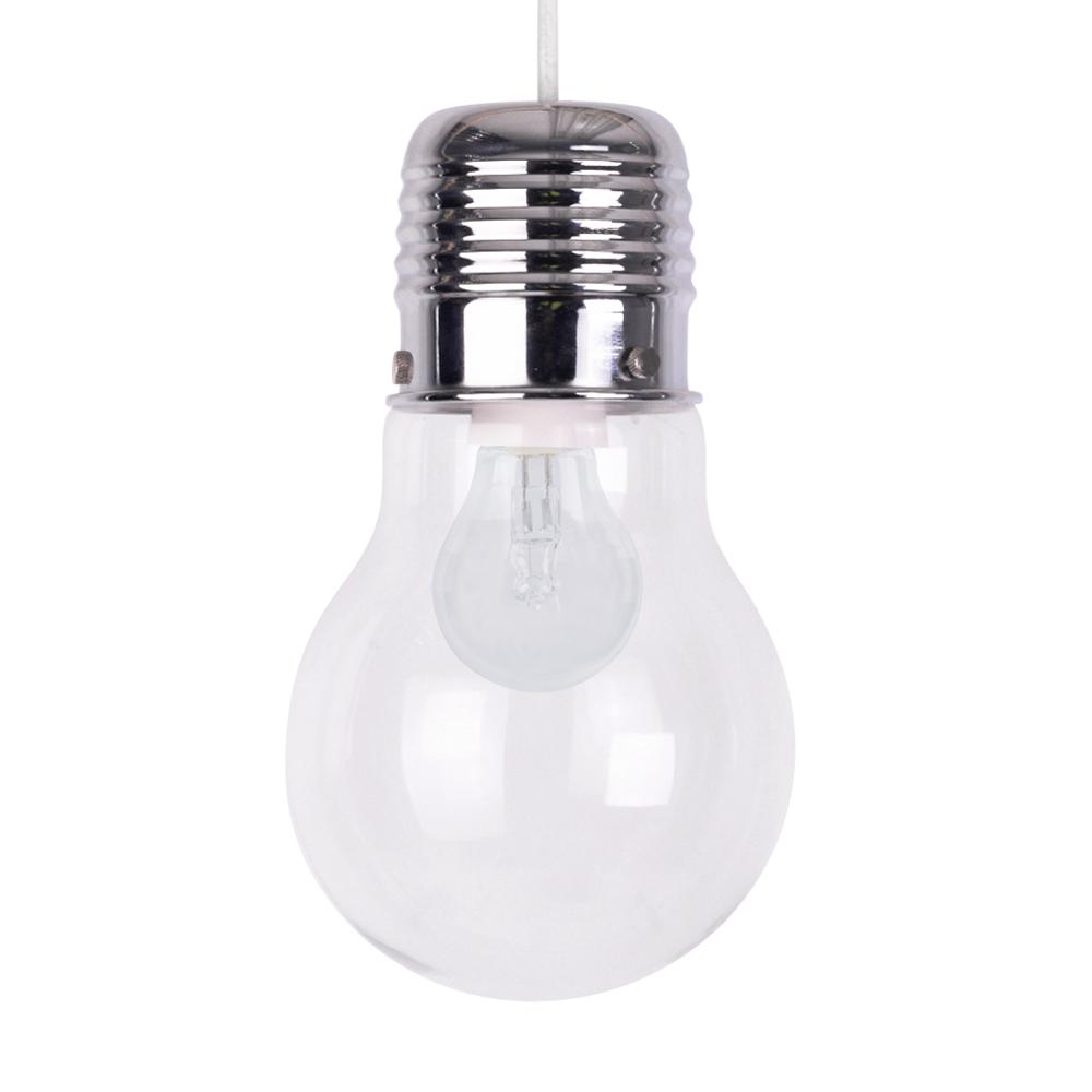 Giant Light Bulb Lamp Modern Chrome Glass Large Light Bulb Shaped Ceiling Pendant Light