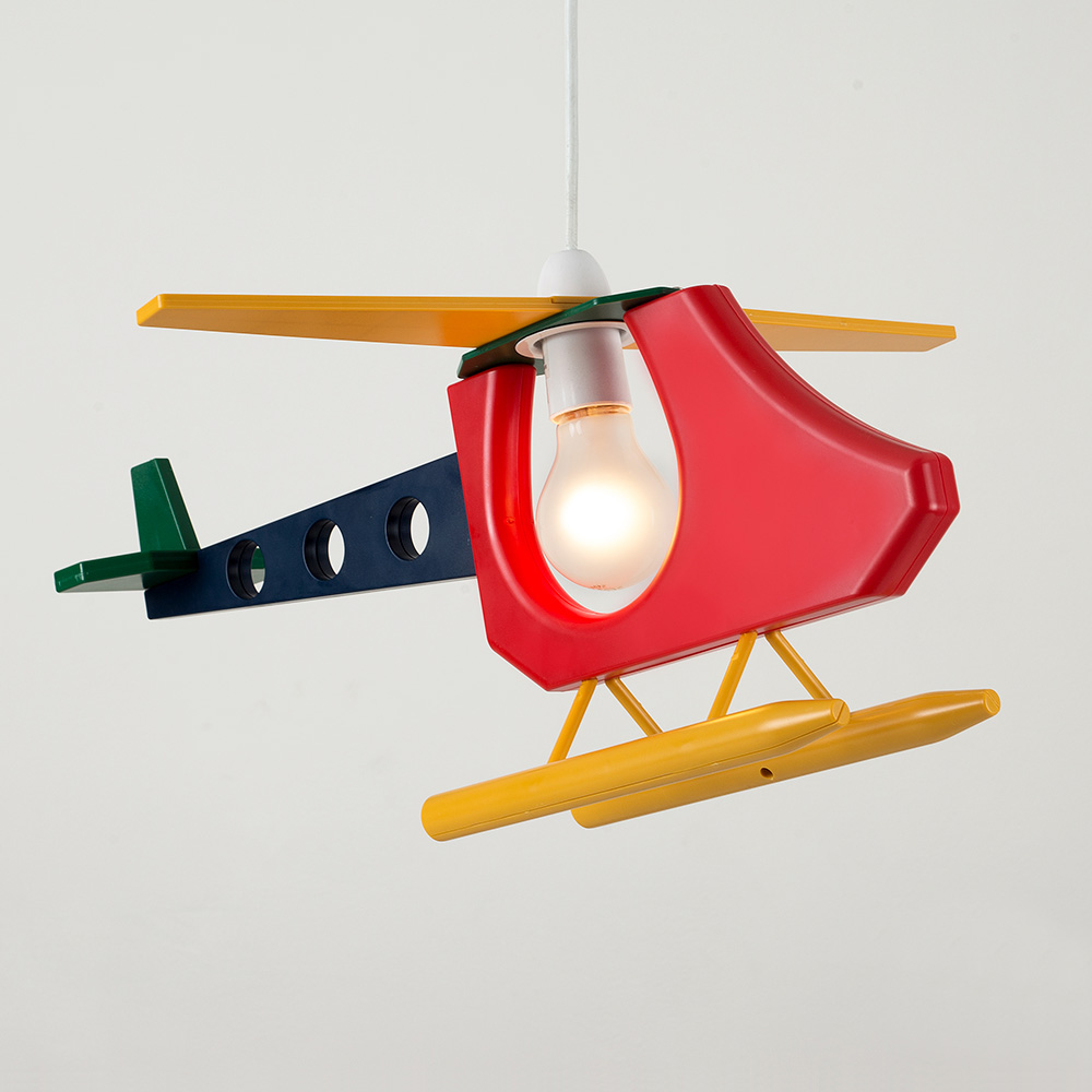 Boys bedroom light shade ebay colourful childrens kids bedroom boys helicopter ceiling light lamp shade lights aloadofball Choice Image