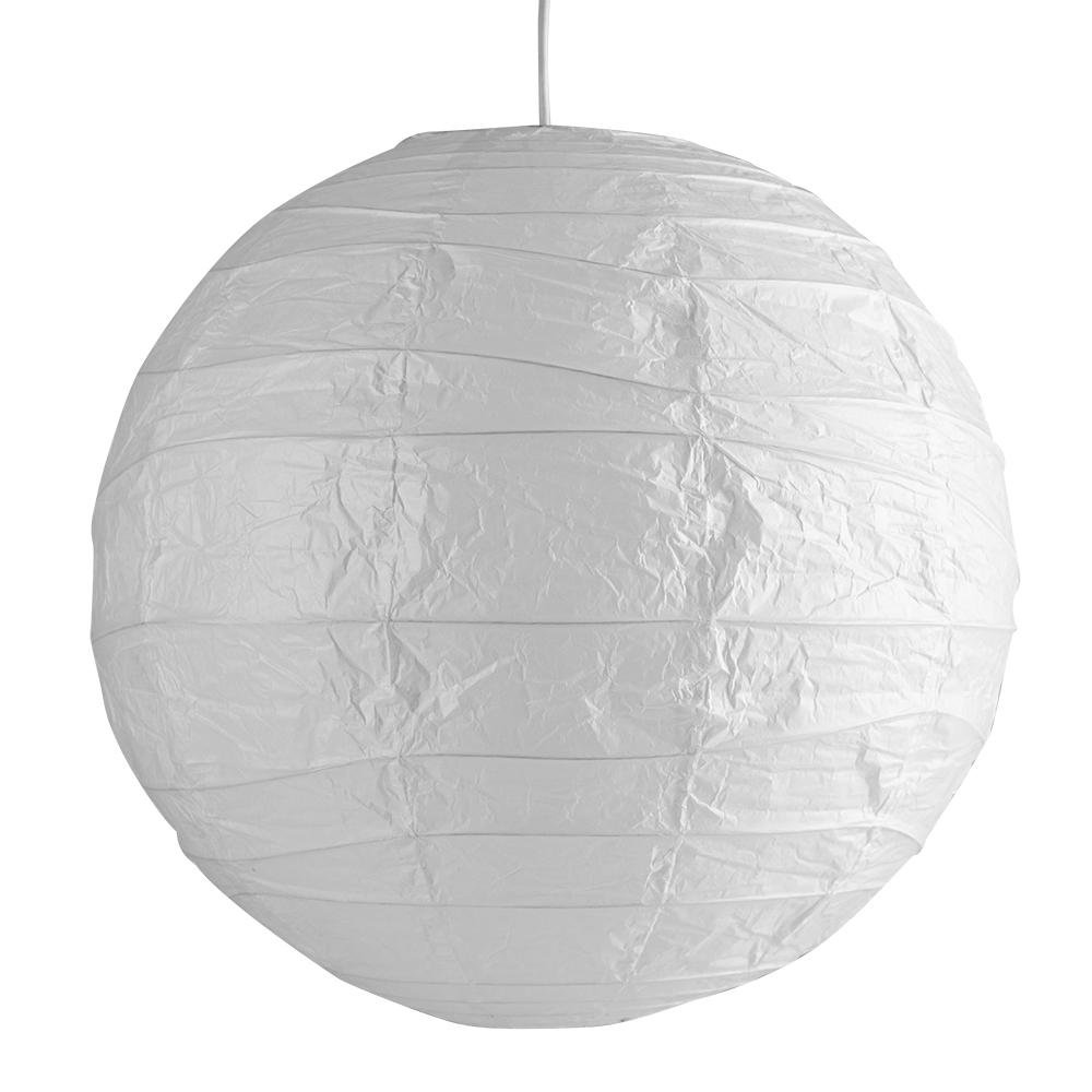 Large 50cm White Rice Paper Sphere Ceiling Light Pendant