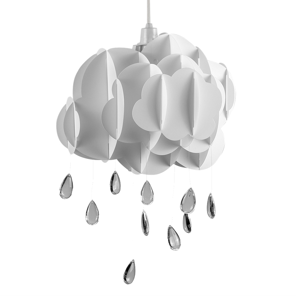 White childrens cloud raindrop shade value lights mozeypictures Images