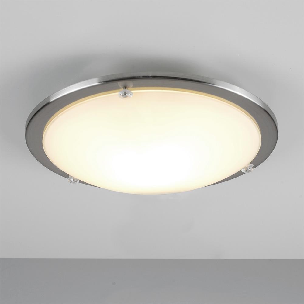 modern chrome glass round flush dome bathroom ceiling. Black Bedroom Furniture Sets. Home Design Ideas