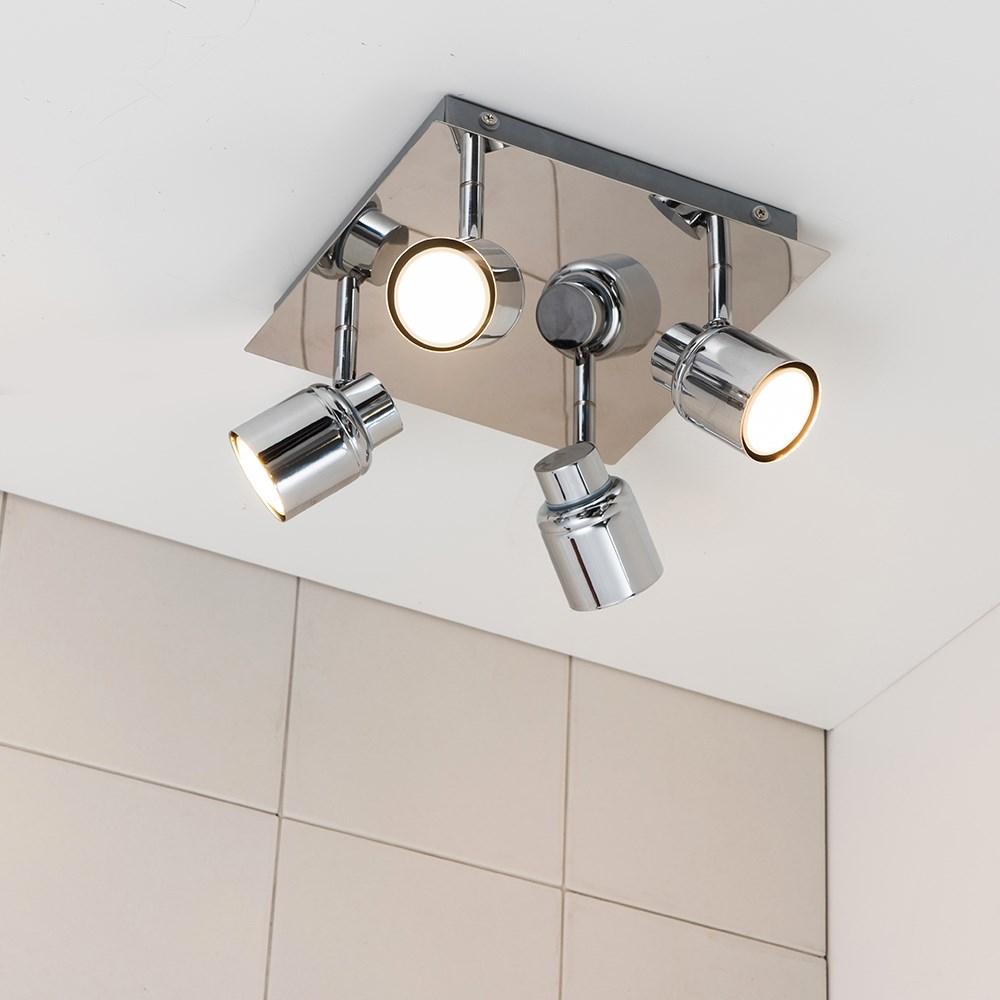 Benton Modern 4 Way Square Light In Chrome Value Lights
