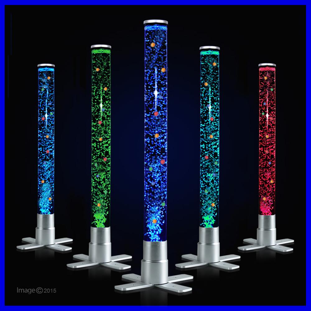 Modern 60cm RGB Colour Changing LED Bubble Tube Lamp Floor Light Sensory Room eBay