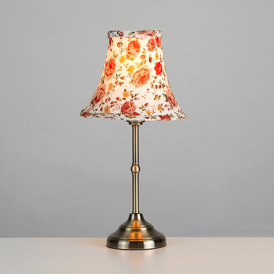 Vintage style antique brass floral lampshade touch dimmer bedside table lamp ebay - Bedside lamps with dimmer ...