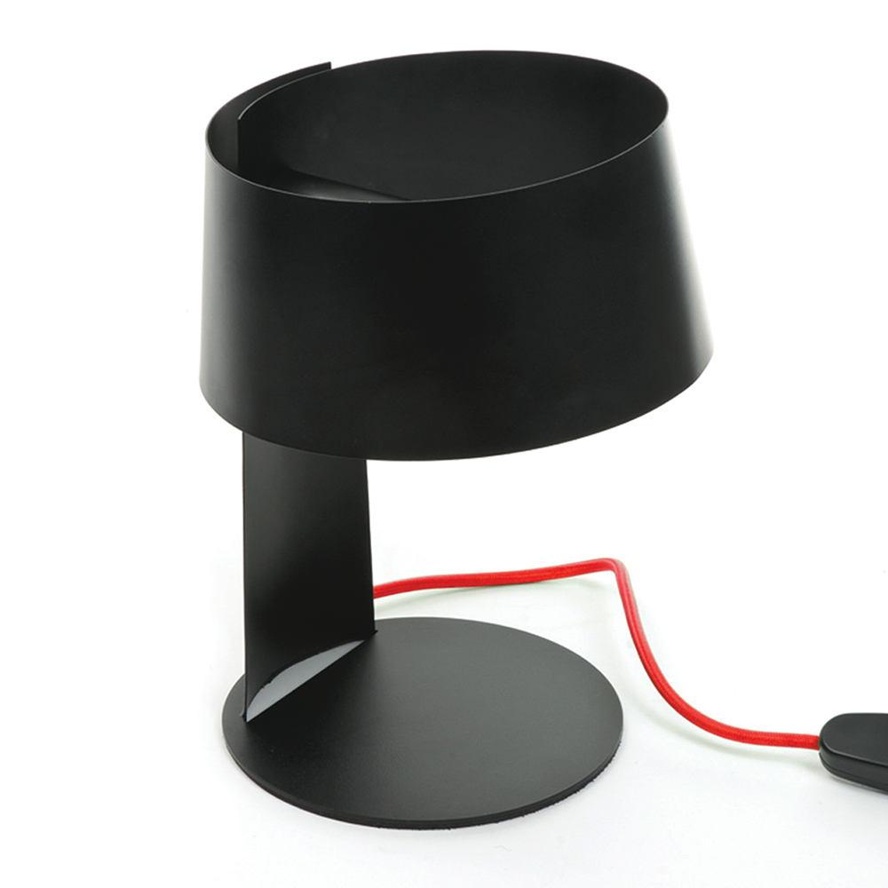 Modern Funky Unusual Black Red Flex Touch Bedside Table