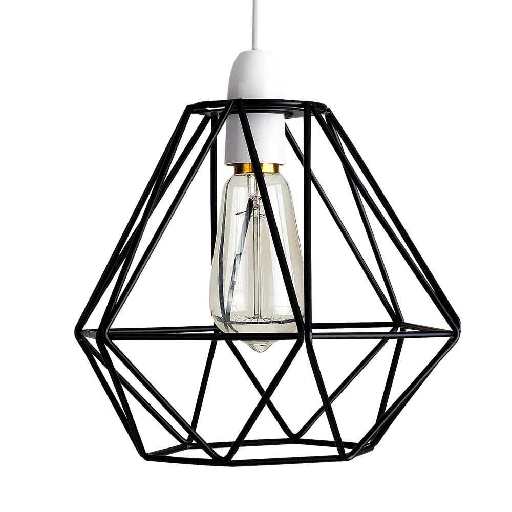 modern black wire frame shaped industrial ceiling