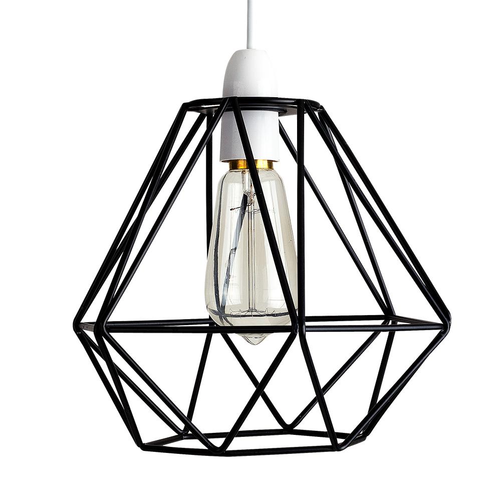 Stylish Black Wire Lightshade Light Pendant New Ebay | Www.kotaksurat.co
