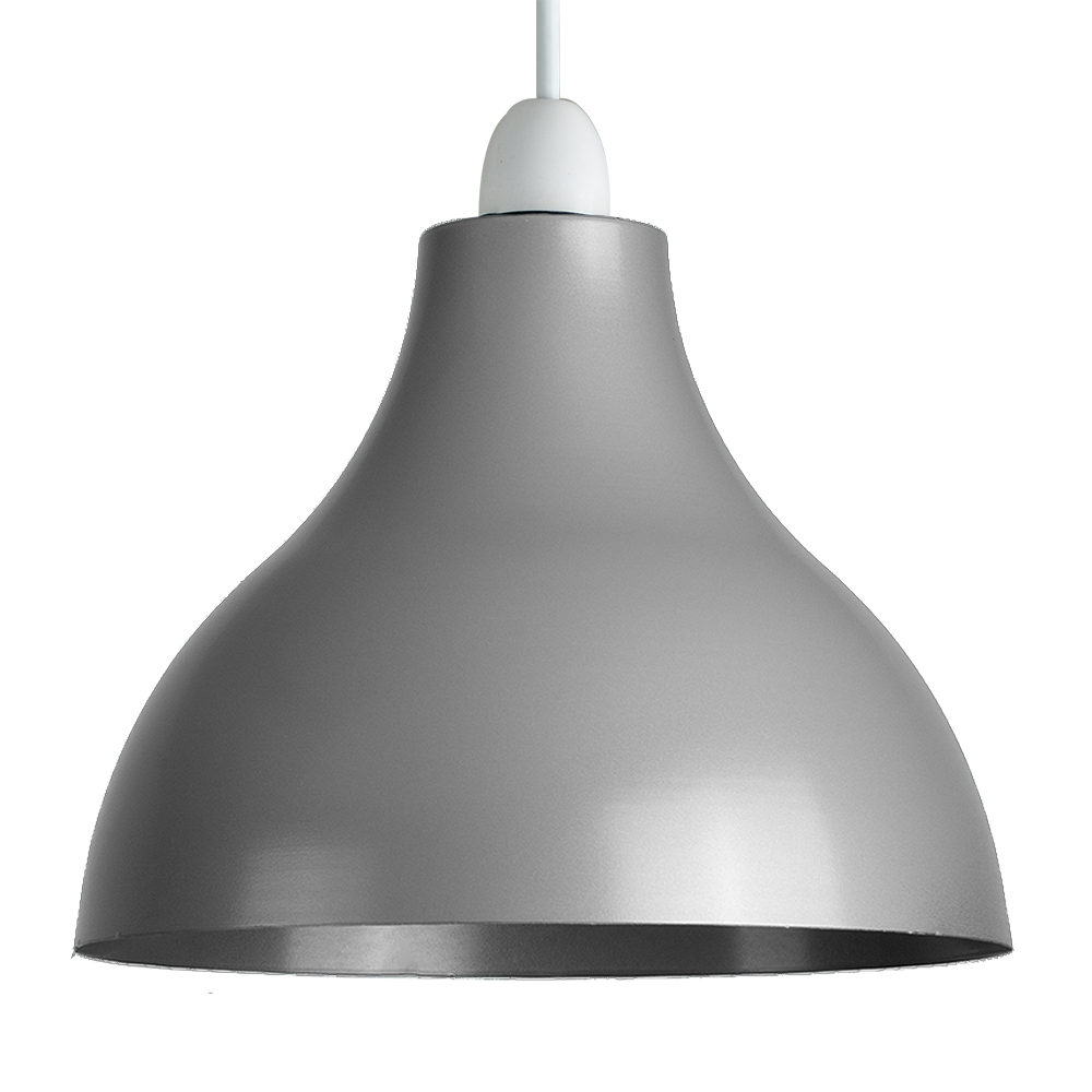 Industrial retro style ceiling pendant light shade gloss grey minisun light mozeypictures Image collections