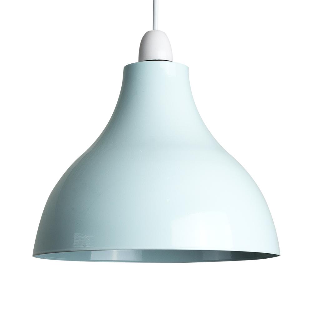 Contemporary Duck Egg Blue Metal Ceiling Light Shade