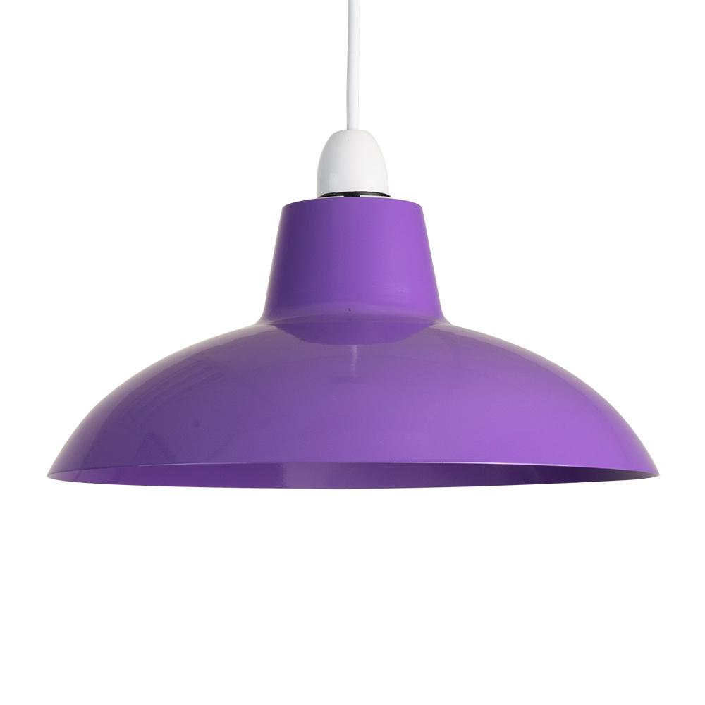 modern industrial style purple metal ceiling light pendant shade retro lshade ebay