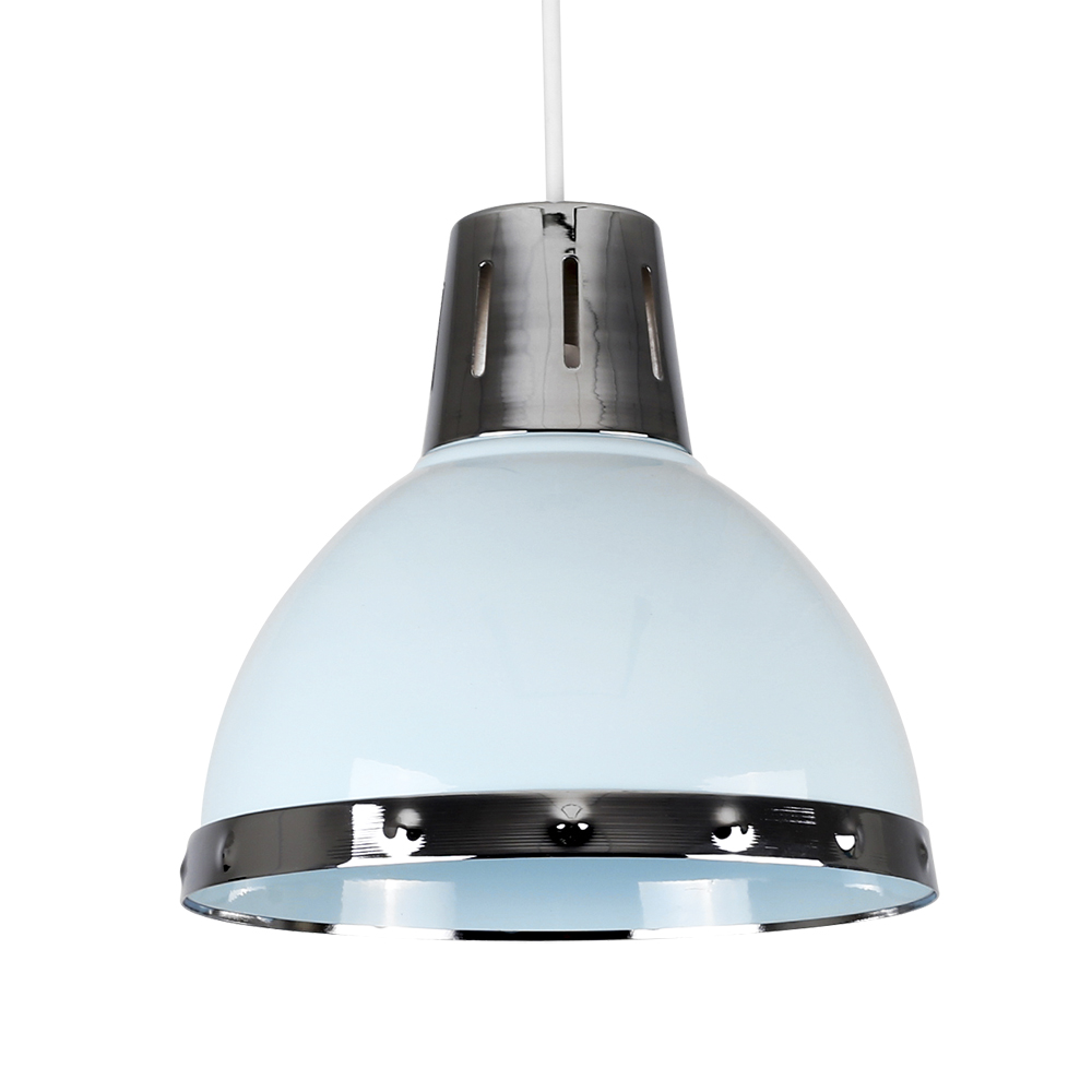 Contemporary Duck Egg Blue + Chrome Retro Kitchen Ceiling