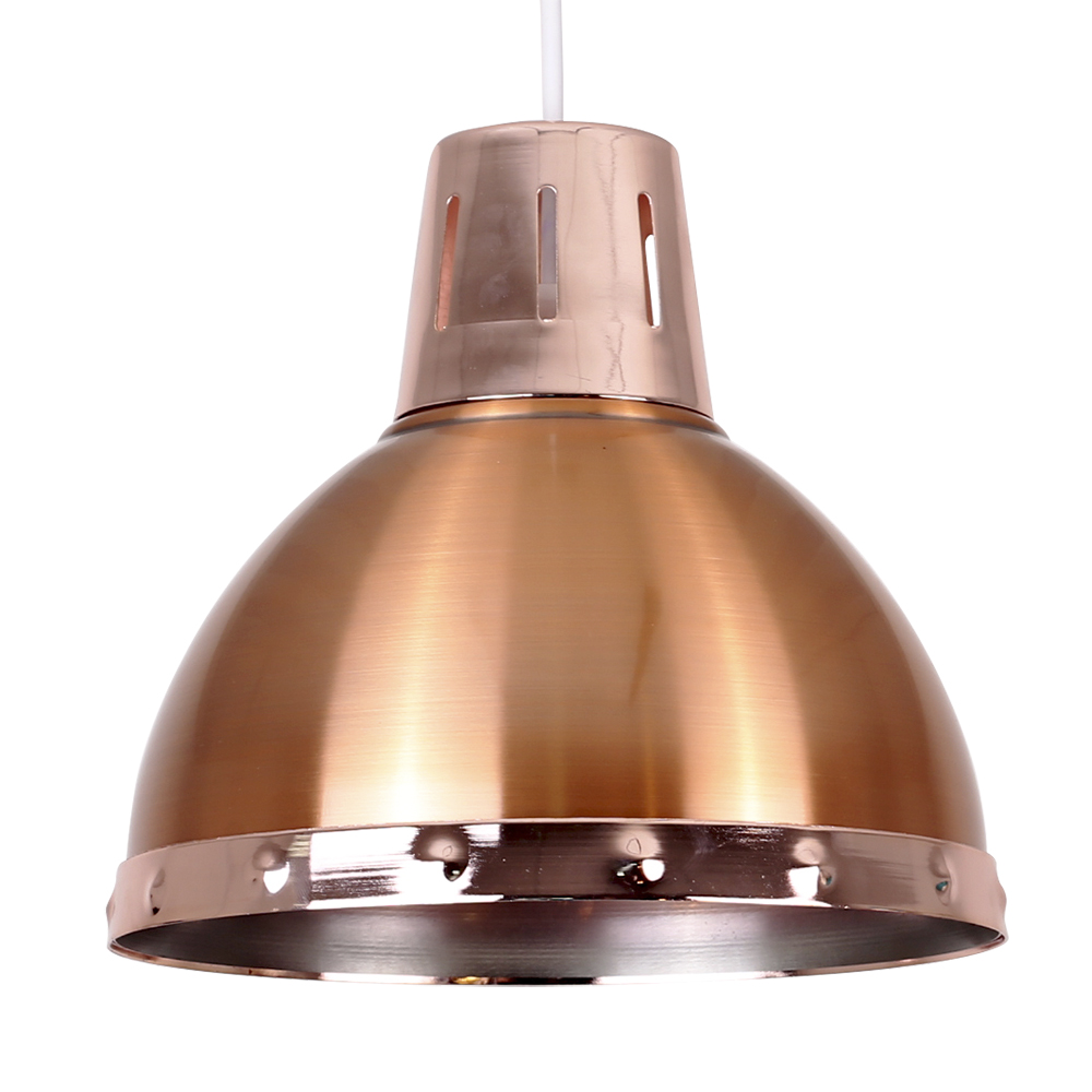 Modern Industrial Style Brushed Copper Ceiling Pendant