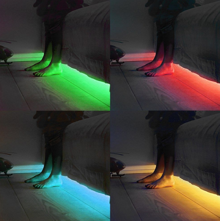 The Remote Controlled Colour Changing LED Light Tube can aid mental wel-being too because it's used in mood lighting for adults and children