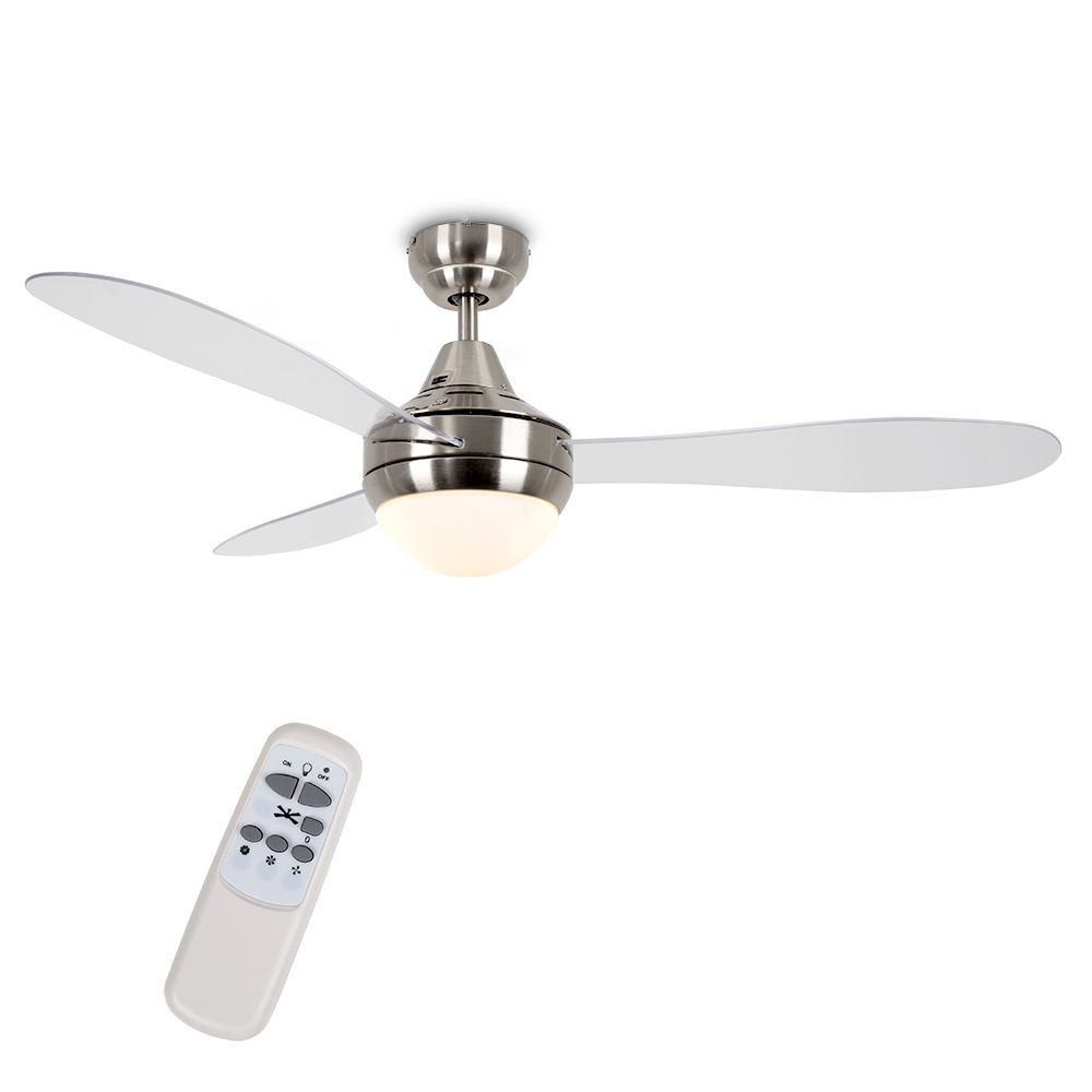 SEBRING 48 INCH CLEAR BLADE CEILING FAN WITH REMOTE CONTROL