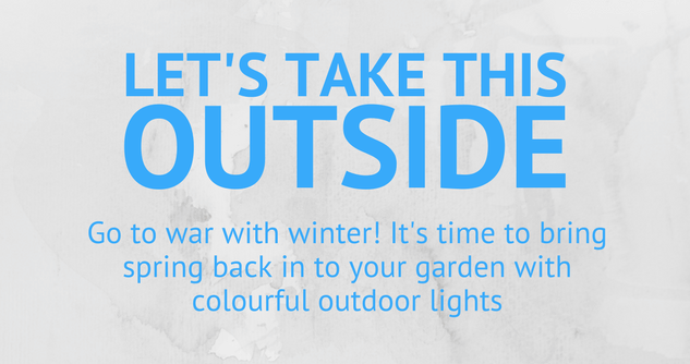 Bring spring back in to your garden with colourful outdoor lights