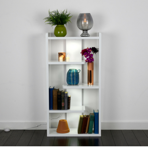 homeware lifestyle shot of light up book case