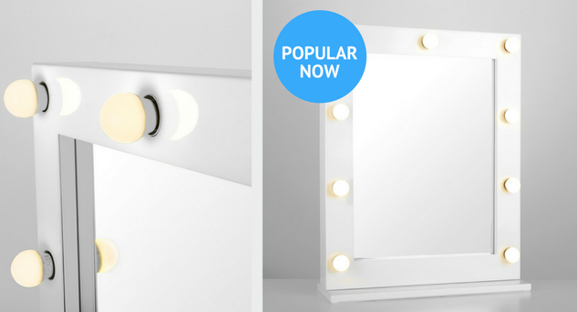 illuminated vanity mirrors images with close up