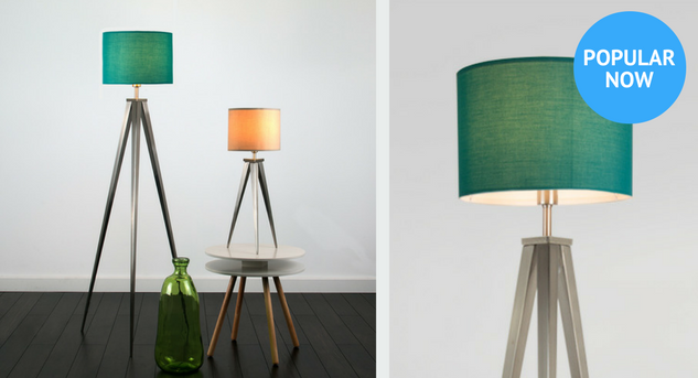 Tripod Lamps callout with lifestyle and close up