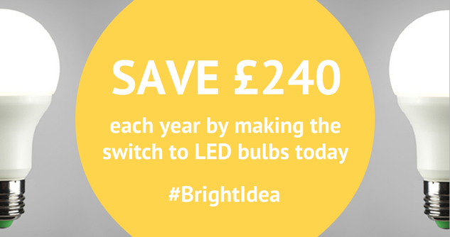 save £240 a year by switching to led bulbs