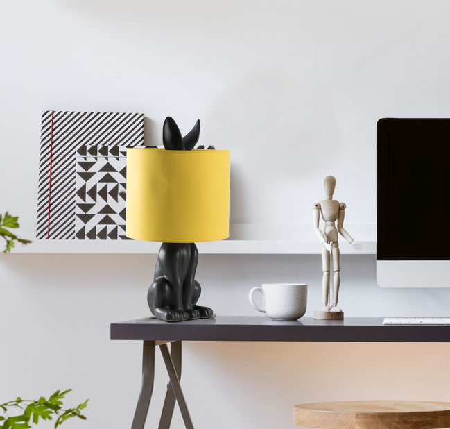 Seven ways to light up your student home. Includes a background photo of a student house. A blog post on student lighting tips