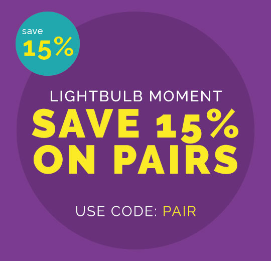Save 15 per cent on pairs of light bulbs promotion