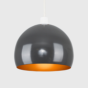 Arco Ceiling Pendant Shade in Grey and Copper